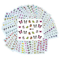 50 Sheets Nail Art Transfer Stickers DIY 3D Design Manicure Tips Decal Decor DIY