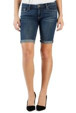 NWT PAIGE JEANS WOMEN Sz26 JAX MIDRISE STRETCH BERMUDA KNEE SHORT IN AYANA BLUE