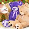 "63"" Giant Teddy Bear Plush Stuffed Animal Toy Valentine Birthday Xmas Kids Gifts"
