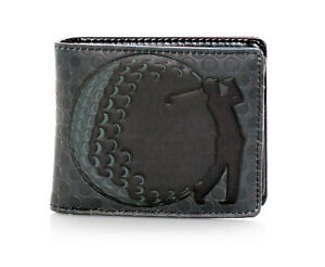 Shagwear Golf Men's Bifold Wallet, Grey