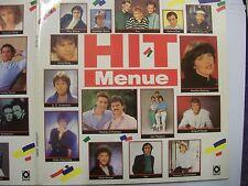 HIT MENUE - 1988 German 2 x LP Compilation Gatefold – Pop, Schlager – BARGAIN!