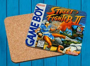 STREET FIGHTER II NINTENDO GAME BOY POSAVASOS MADERA WOODEN COASTERS
