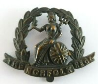 WW1 The Norfolk Regiment Officers OSD Bronzed Cap Badge - 2 Lugs to Rear