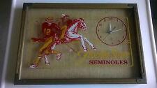1981 Antique Fla. State Seminoles Kelly Lowery Wall Clock #12 Quarterback (A)