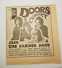 Vintage Ad The Doors Jim Morrison Cal State 1967 The Canned Heat La Free Press