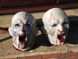3D 2 Zombie Heads for Archery & Shooting Targets