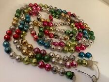 Vintage collectible Christmas mercury glass garland multi color 60�