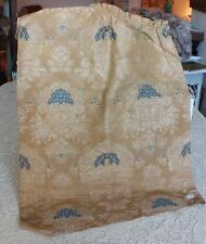 """French Antique 18thC (c1780) Silk Brocaded Lampas Textile Fabric~34""""L X 20""""W"""