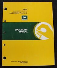 John Deere 2155 & 2355N Tractor Operators Manual Ser. #622000 & Up Very Clean