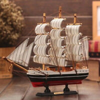Wooden Boat Model Mediterranean Sailing Ship Art Craft Brand new High quality