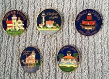 Harbour Lights Collector's Society Pins 2003, 2002, 2001,2000, 1999 Lot of 5
