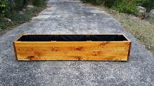 Raised garden bed. Timber Custom hand built to order. Land Border Shape