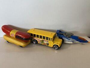 Hot Wheels School Bus, XT-3, Oscar Mayer Wienermobile Vintage Lot