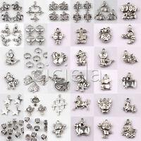 Wholesale Bulk Beads Charms Lots Tibetan Silver Pendant Jewelry Chain Crafts DIY