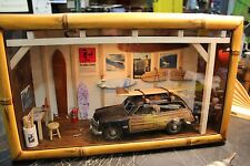 Vintage Ford Surf Woody Garage Display Wood Surfboards Lighting Bamboo Frame