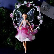 Weihnachten Engel Elfe Fee Gisela Graham Schutzengel Blumenbogen Tupfen Rosa