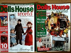 Dolls House World 2 x Magazines, Christmas Special, Season's Greetings