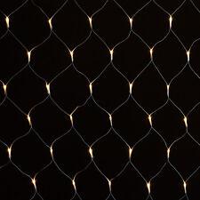 160 LED Lichternetz Lichtervorhang Lichterkette Lichter warmweiß für Innen Außen