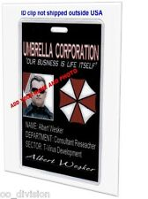 Resident Evil Umbrella Corp   CUSTOM MADE ID BADGE