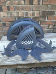 4 Vintage Used Schwinn AD2 Exercise Bike Plastic Fan Assembly Covers