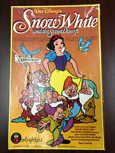 '87 Vintage Snow White and the Seven Dwarfs 50th Anniversary Colorforms Disney's
