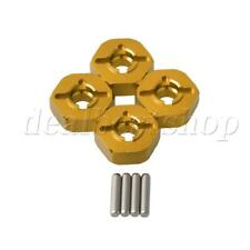 4 Pieces Aluminum Alloy Wheel Hex Mount Yellow for WL RC1:18 Model Car