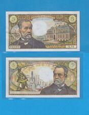 Banque de France 5 Francs Pasteur du 5-5-1967 X.54 Billet N° 0134612360