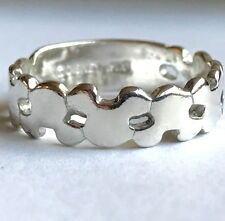 Mickey Mouse Disney Sterling Silver Ring Band Stores Vintage Ears 925 Size 7 USA
