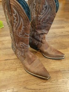 Ariat woman's genuine leather brown cowboy boot size 10 B