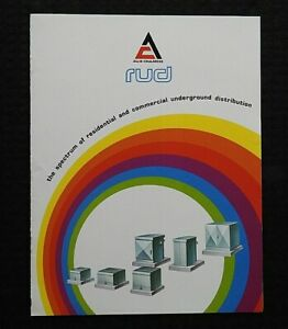 "1970s ""ALLIS-CHALMERS COMMERCIAL TRANSFORMERS"" ELECTRICAL ENGINEERING BROCHURE"