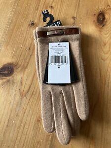 Bnwt Ladies Ralph Lauren Camel Belted Gloves Size M