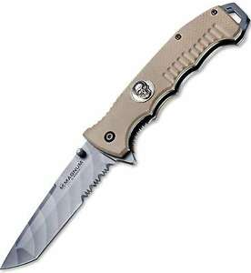 """Boker Magnum Shades Of Gray 9"""" 440 Stainless Steel Blade G-10 Handle 01SC648 NEW"""