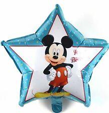 R24F3 Helium Folienballon Baby Blau Stern Micky Maus Geburtstag Geschenk balloon