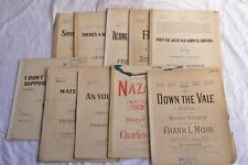10x Job Lot Vintage Antique Song Piano Sheet Music 1910s 1920s Wartime A