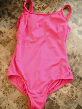 ladies LANDS' END PINK 1 PIECE SWIMSUIT plain solid TANK CAMI TOP small SIZE 8