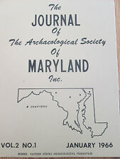 Maryland Archaeological Society Journal - 3 Aboriginal Sites in Pimlico