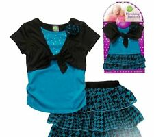 SZ 6 Dollie Me Houndstooth Dress+Matching 18 in Doll Clothes Fits American Girl