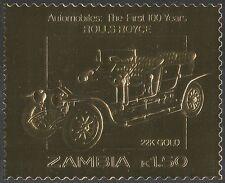Zambia GOLD ROLS ROYCE/Cars/Motoring/Transport/Motors/Classic/Vintage 1v (s4169)