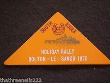 CARAVAN CLUB BADGE - HOLIDAY RALLY - BOLTON-LE-SANDS 1976