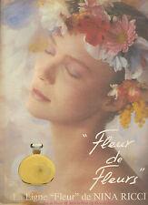 PUBLICITE ADVERTISING  1995    NINA RICCI     parfum FLEUR  de FLEUR