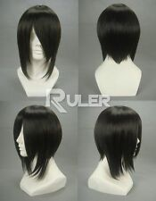 Short Ash-Sebastian Michaelis Black Anime cosplay wig + Wigs hairnet