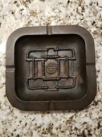 "Bronze Antique Vintage Ashtray 71/2"" x 7""x 1"" Heavy! Hard To Find!"