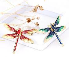 Pin Zinc Alloy Coppers Trendy Dragonfly Brooch Vintage Crystal Rhinestone Insect