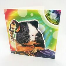 Light hearted colourful DJ Guinea Pig BIRTHDAY or GREETINGS card