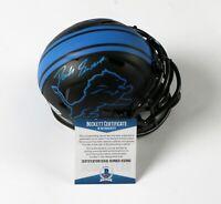 D'ANDRE SWIFT Detroit Lions Autograph Eclipse Mini Helmet Signed BECKETT COA