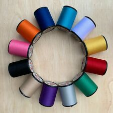 Multi Colors 12 Spools Sewing Thread All Purpose Spun Polyester 600 Yards Craft
