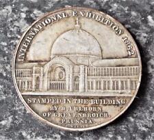 Prince Consort Albert - Antique 1862 International Exhibition Medallion / Medal