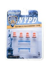 13068 1:64 GreenLight NYPD Road Accessory Pack Series 1 (set 6 pcs)
