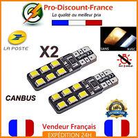 2 Ampoules LED T10 W5W Blanc Xenon Canbus Anti Erreur Ampoule veilleuse Voiture