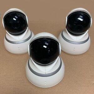 Lot of 3 YI Dome Security Camera 1080p HD Pan/Tilt/Zoom 2.4G IP Surveillance